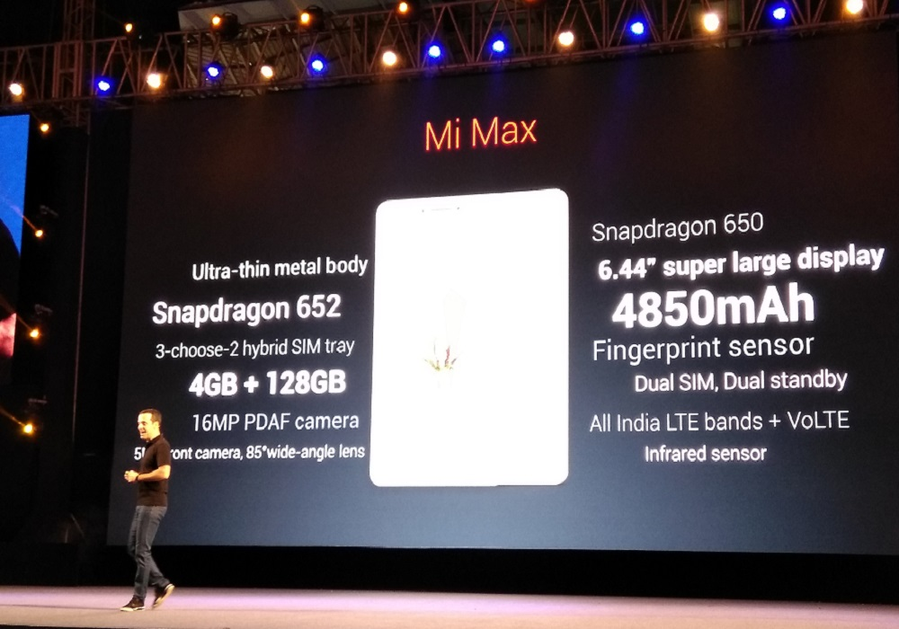 Mi Max Specifications