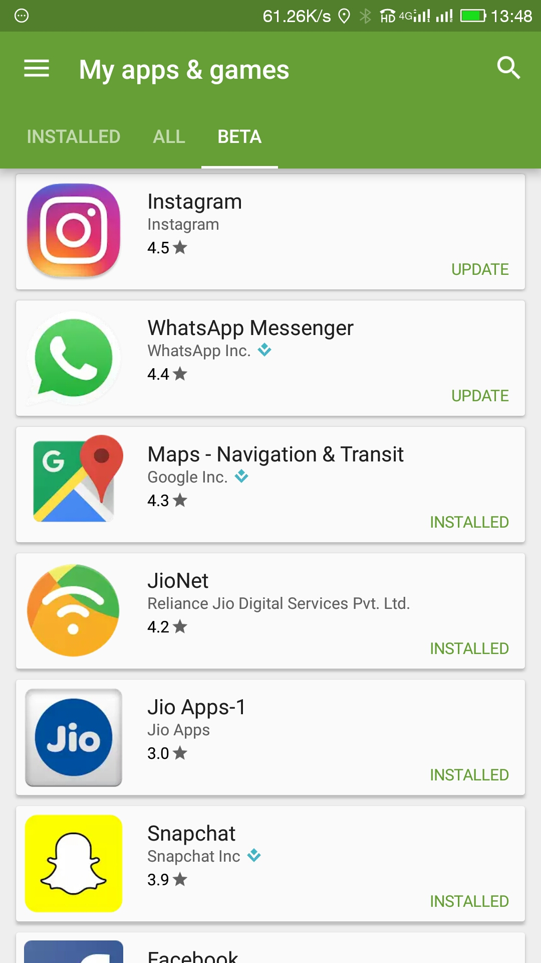 Beta Apps on Play Store