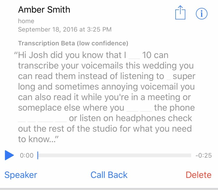 How to read Voicemail in iOS10