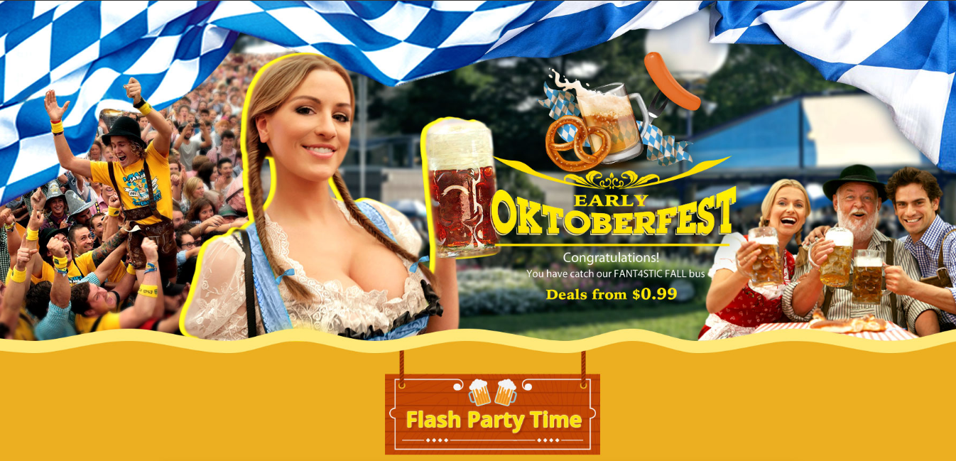 Early Oktoberfect Flash Sale Banner