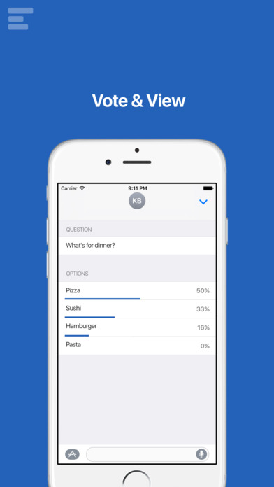 Poll for iMessage