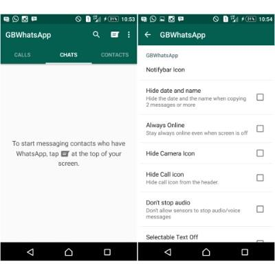 Features of GBWhatsapp