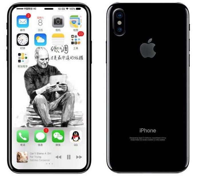bezelless iPhone 8