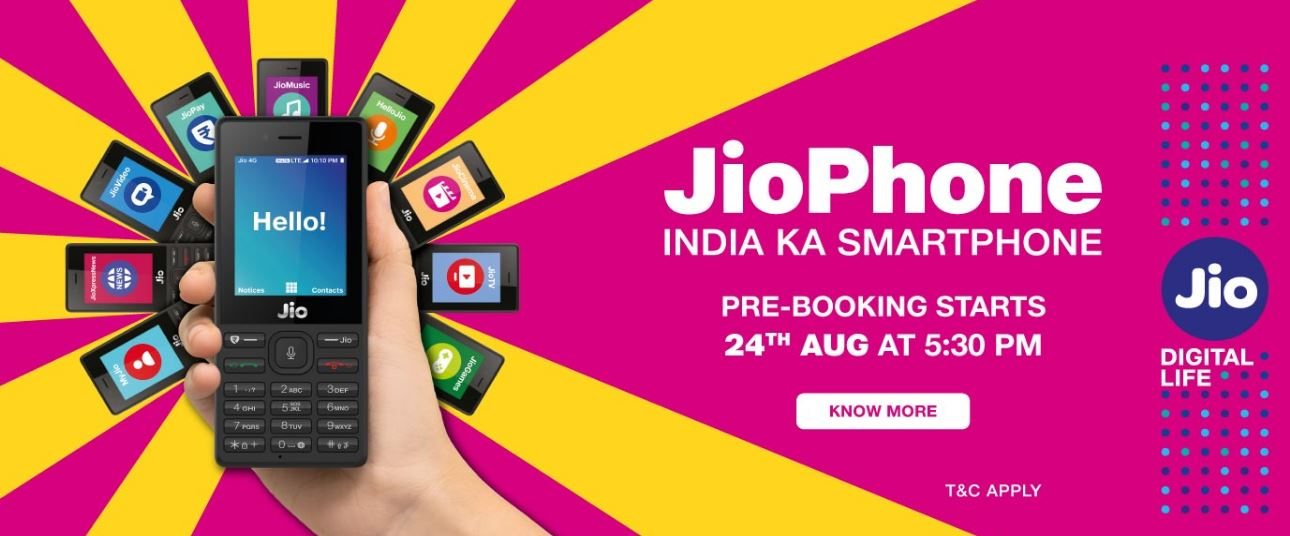 Jio, JioPhone ,Prebook JioPhone, JioPhone Specifications